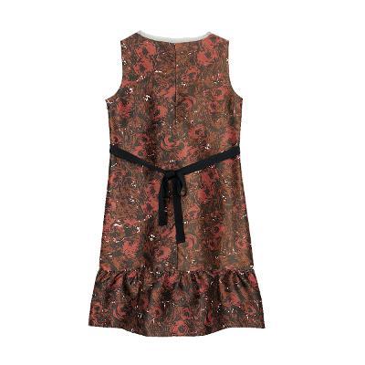 geometric spangle dress red